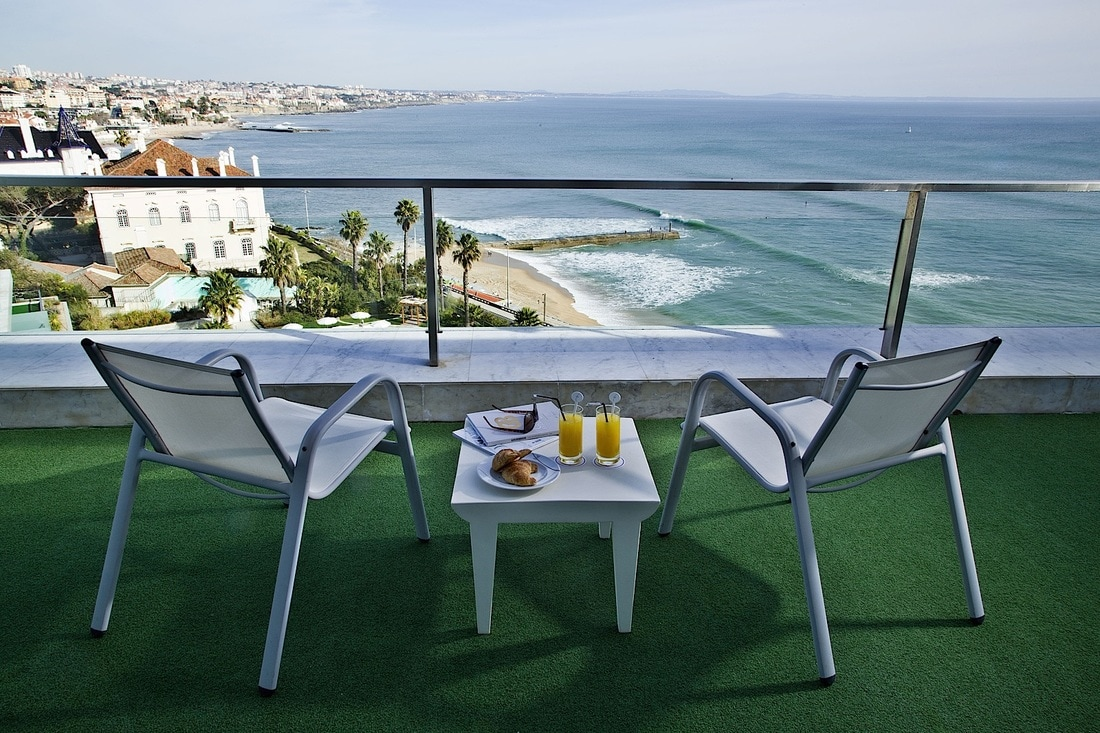 Terrace with view at Cascais Miragem Health & Spa hotel